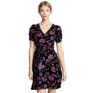 Rebecca Minkoff Arlette Floral Velvet Dress